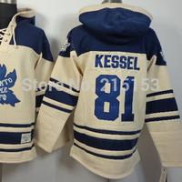 2014 New Old Time Toronto 81 Phil Kessel NHL Men Ice Hockey Hoodies Jersey Hooded Warm V Neck Sweatshirts
