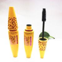 2014 New show black Leopard maquillage print Yellow tube SUMI growth mascara mascara waterproof full