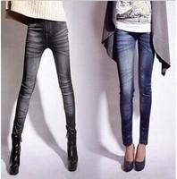 2014 new women thin Ladies wild snow Denim jeans Leggings pencil pants nine Leggings spring and autumn slim trouser