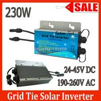 IP67  230W Grid tie micro inverter with communicative function, 24-45VDC 190-260VAC 50/60Hz  mppt pure sine wave solar inverter