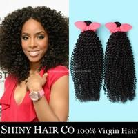 3 Bundles Brazilian Virgin Hair Kinky Curly Natural Black 6A Unprocessed Human Hair Weave GS Brazilian Kinky Curly Virgin Hair