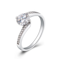 Fashion rhinestone wedding rings for women wedding bands charm jewelry wholesale