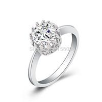 Fashion rhinestone wedding rings crown designer jewelry for women elegant bands charm jewellery wholesale