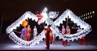 5 joint light sliver shinning 10 meter brand new dragon dance mascot costume china special culture holiday party's
