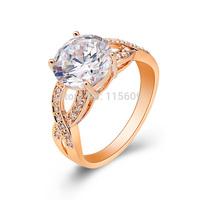 Fashion rhinestone finger rings for women engagement bands designer jewelry wholesale bride gift