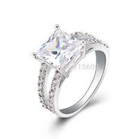 Fashion rhinestone rings women jewelry accessories elegant bands charm wedding jewellery wholesale