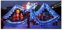 9 joint LED light green shinning 18 meter brand new dragon dance Christmas festival china spring holiday