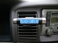 DZ-698 Car electronic watch car electronic clock auto clock car thermometer luminous  home clock car clock Free Shinpping