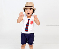 baby boys kids cotton summer cool casual tie camisoles retail drop shipping 1pcs KT334R