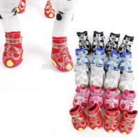 Free Shipping! 4pcs/set Hot Sale Waterproof Anti-slip Winter Snow Pet Boots Dog Shoes