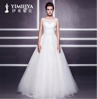 2014 wedding formal dress Sweet princess puff skirt Bride wedding dress vestido de noiva salomon casamento romantic bone new era