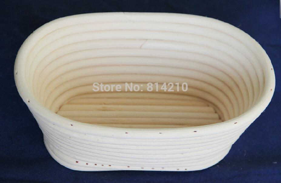 1PC 21cm Bread Proving Proofing Rising Rattan Basket Banneton Brotform Fermentation Storage Oval Rattan Basket Free shipping(China (Mainland))