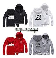 Linkin Park sweatshirt Linkin park hoodie new LP winter hooded cardigan Tide brand for men and women plus velvet zipper