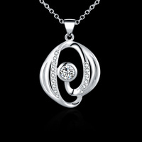 Promotions prcie,925 sterling silver austiran crystal pendant necklace,wholesale fashion jewelry N550