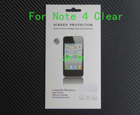 300 Sets New Mobile Phone Screen Protector For Samsung Galaxy Note 4 N9100 Clear Screen Guard Film With Retail Box