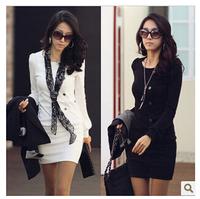 2014 autumn winter ol female elegant long-sleeve office work dress women everning party slim knitted dress
