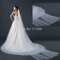 Veil 2014 Bridal Wedding Accessories Sluier 3M Ivory Long Trailing Soft Material Kathedraal sluier