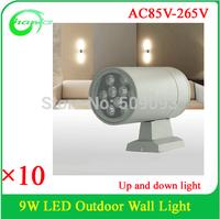 Lawn lamps Outdoor lighting 9W IP65 Waterproof LED Garden Wall Yard Path Pond Flood Spot Light AC 85-265V Free Shipping