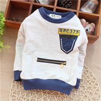 baby boyss spring wear cool zipper pocket sweatshirts hoodies novelty style KT331R