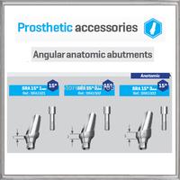 ANGULAR ANATOMIC ABUTMENT 15DEGREE SIZE 1mm,2mm,3mm -  BIO-EFFECT,  HIGH-END QUALITY ABUTMENT,TITANIUM MATERIAL lab dental