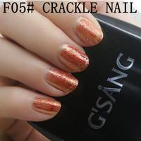 christmas gift beauty china gsang nail art crackle shatter glaze sweet color brand nail lacquer crack nail polish bulk 3pcs/lot