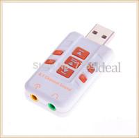 100pcs/lot USB 2.0 External Virtual 8.1 Channel CH 3D Audio Sound Card Adapter Converter