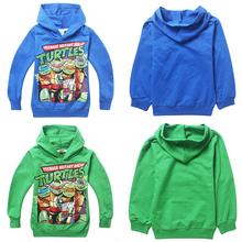 Hot boys Autumn Teenage Mutant Ninja Turtles sweatshirts kids long sleeve printed leisure hoodies children's cotton sports tops(China (Mainland))