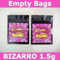 Free shipping,BIZARRO 1.5g herbal incense bags,zip lock bags,empty bags
