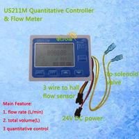 US211M Quantitative Controller Flow Rate Display Flow Rate Meter Digital Display Total Volume