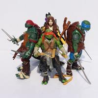 Free shipping 5pcs/lot Teenage Mutant Ninja Turtles PVC figure doll TMNT Leonardo Raphael O'Neal Donatello movable joints toy