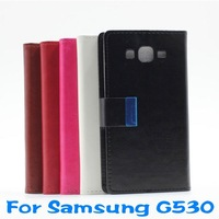 Luxury PU Flip Leather Case Cover For Samsung G530 IN STOCK