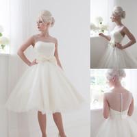 Top Sale Women Wedding Formal Dress Bride Lace Short  2016 Party Ball Gowns Wedding Dresses Vestido De Noiva Curto Bridal