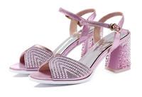 Hot Selling Women Pumps Platform Thin Heels 8cm Cross Strap Women Shoes Fashion High Quality Sexy High Heels Size 35-40