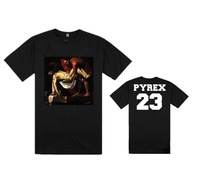 Men's T Shirts Hiphop Brand Cotton Tees Black White European Streetwear PYREX  No 20 Printed Fashion