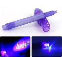 Free shipping VIA DHL/FEDEX/UPS, 1000pcs/lot , 2 in 1 INK Pens, Invisible UV Pen, secret pen, Wholesale .4 colors
