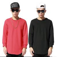 Designer brand Hip hop sweatshirt casual Men Solid color sweatshirt cotton Long sleeve sport hoody pullover extended sweatshirts