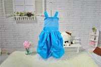 New Popular Girl Models Harness Puff Girls Summer Dress Flower Girl Dresses Size 100-140 20pcs/Lot In Stock DHL Free Shipping