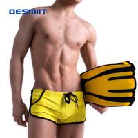 DESMIIT fashion pocket swimming trunks beach personalized low-waist swim trunks multicolor strap men's boxer swimming speedo