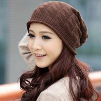 Brand New 2014 Women's Hip Hop Ring Warm Beanie Cap Winter Autumn Women Knitted Hats Men Beanies Free Shipping