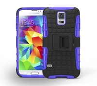 Mix Color TPU&PC Heavy Duty armor stand case for Samsung Galaxy S5 Active G870  Free Shipping 20pcs/lot