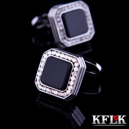 Kflk jóias 2014 camisa botão de punho para homens presente de casamento marca botões de punho preto abotoadura de alta qualidade abotoaduras jóias(China (Mainland))