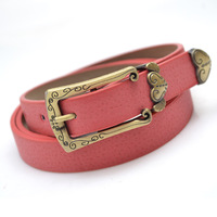 2014 New Heart thin belt Korean version of the retro candy carved anti ancient leather belt women's belt decoration Wholesales