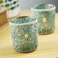 Blue mosaic glass fashion candle holder,romantic decoration,bar candle holder ,free shipping
