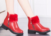 2014 autumn and winter women shoes winter boots girls low boots fashion boots black red