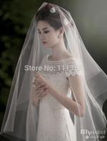 2015 Brief Bridal Veil Schleier Soft Cut Edge Ivory Wedding Sluier 1.5 Meters New Style Hot Sale