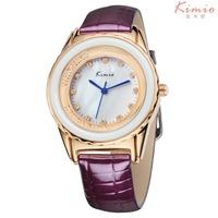 New Hot Women Leather Dress Bracelet Watch, Ladies KIMIO Wristwatch, Quartz New Fashion Crystal Watches kw512
