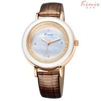 High Quality Women Genuine Leather Fashion Bracelet Watch KIMIO Watch Quartz Watches KW513