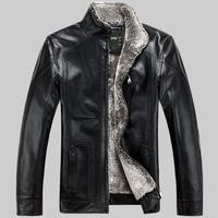 2014 autumn and winter new Slim Haining sheep skin leather jacket collar short paragraph Men tide fur leather men M-XXXL
