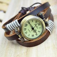 2014 New Hot! Dress Watch Women Multicolor Wristwatch Bracelet Leather Chain Watches