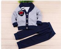 6set/lot wholesale brand 2pcs set kids jacket pants boy clothes ,casual sprotsuit child clothes